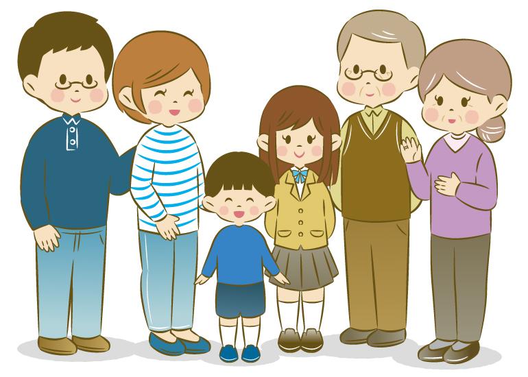 家族集合イラスト